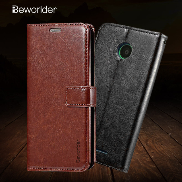 new concept 5a1d5 8004d US $3.8 13% OFF|Beworlder For Nokia Lumia 630 Lumia 635 Case Nokia 630  Crazy Horse PU Leather Case Flip Stand Card Slot Photo Frame Cover-in Flip  ...