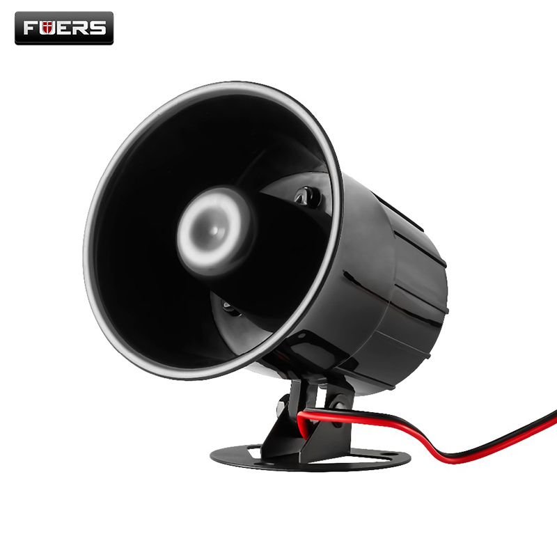 DC12V 24V Wired Loud Alarm Siren Horn Outdoor with Bracket for Home Security Protection System Alarm Systems Security Home