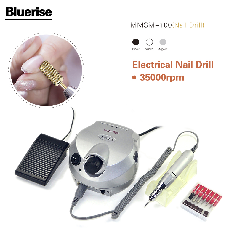 Powerful Quality 35000 RPM Professional Electric Nail Drill Machine Manicure Pedicure Kits File Drill Nail Salon Nail Tools C013 2016 professional salon nail art tools electric nail drill nail polisher manicure file bits pedicure kit 35000 rpm 110v 220v