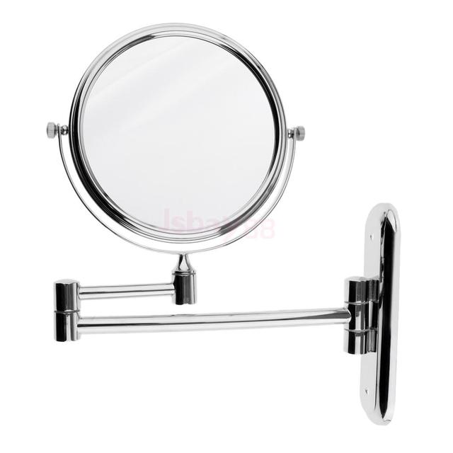 Wall Mount Makeup Mirror Two Side Vanity Extendable Bathroom