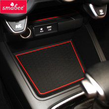 smabee Gate slot pad Non-slip mats For Kia Rio 4 X-Line RIO 2017 2018 2019 non-slip mats Interior door pad/cup(China)