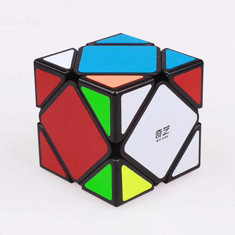 QIYI Qicheng stickers Skewb Magic Speed Cube Puzzle Twist Cubo Magico Skew Professional Stickerless Cube Toys For Children