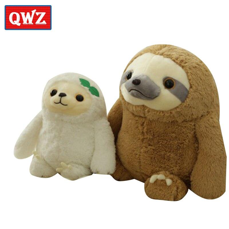 Qwz моделирование лень Baby Doll Реалистичного Лень плюшевые игрушки мягкие куклы для детей игрушки прекрасная кукла подруга Best подарки Brinquedos ...