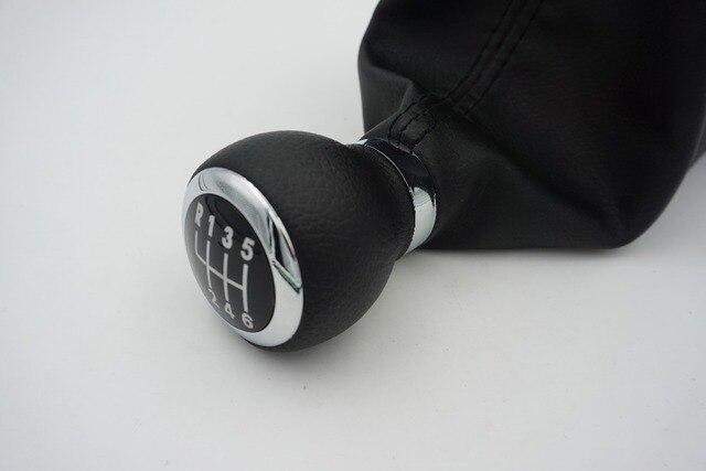 12mm 6 Speed Black PU Leather Gear Shift Stick Knob for Passat B6 / B7 2006 2007 2008 2009 2010 2011