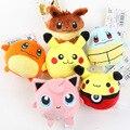 4 Inch Pokemon Ходу Весело Плюшевые Игрушки Мультфильм Пикачу Eevee мини плюшевые Игрушки Покемон Вытяните Назад Куклы Телефон Мешки Кулон подарки