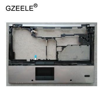 GZEELE New Laptop LCD TOP CASE For HP EliteBook 8440P Palmrest Keyboard Bezel Cover Upper Case Assembly SILVER image