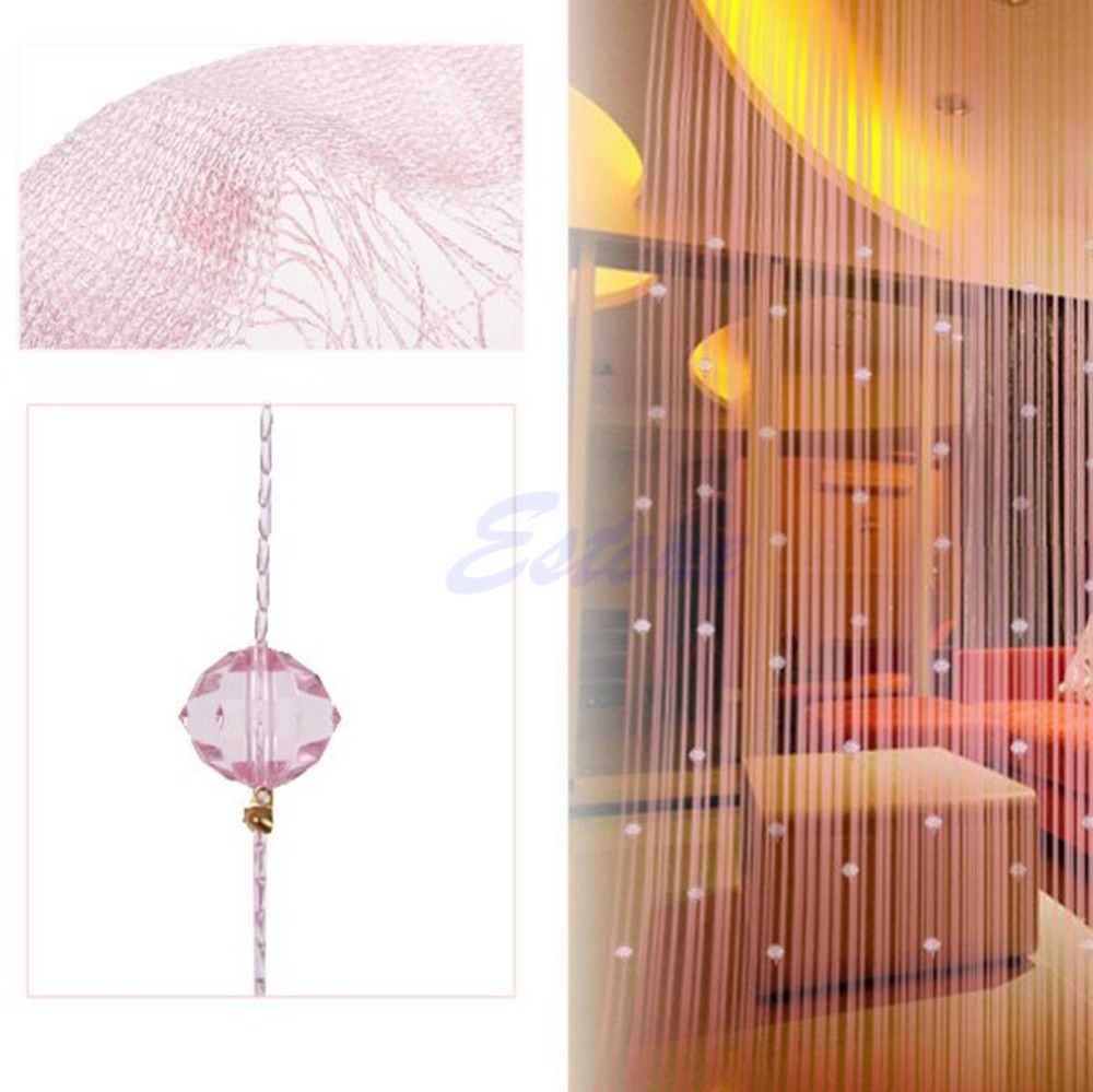 Beaded window panels - Free Shipping String Curtain Beads Panel Spangle Fringe Room Door Window Panel Blind Divider China