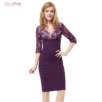 03783 Free Shipping Ever Pretty 3 4 Sleeve Lace Women S Coctail Party Dresses 2014 New