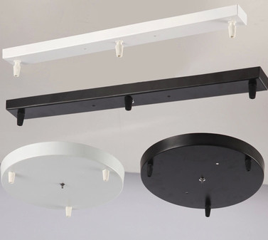 1 Piece WhiteBlackChrome Rectangle Ceiling Plate Ceiling Canopy