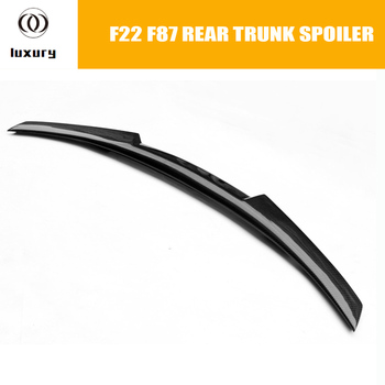 M253i M4 Style Carbon Fiber Rear Trunk Lip Wing Spoiler for BMW F22 2 Series Coupe 220i 228i M235i & F87 M2 2014 - 2019 image