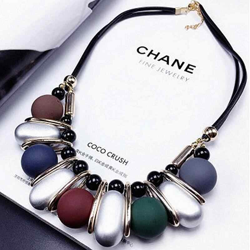 Bead Necklace exaggerated personality temperament short chain sweater chain accessories wholesale female clavicle