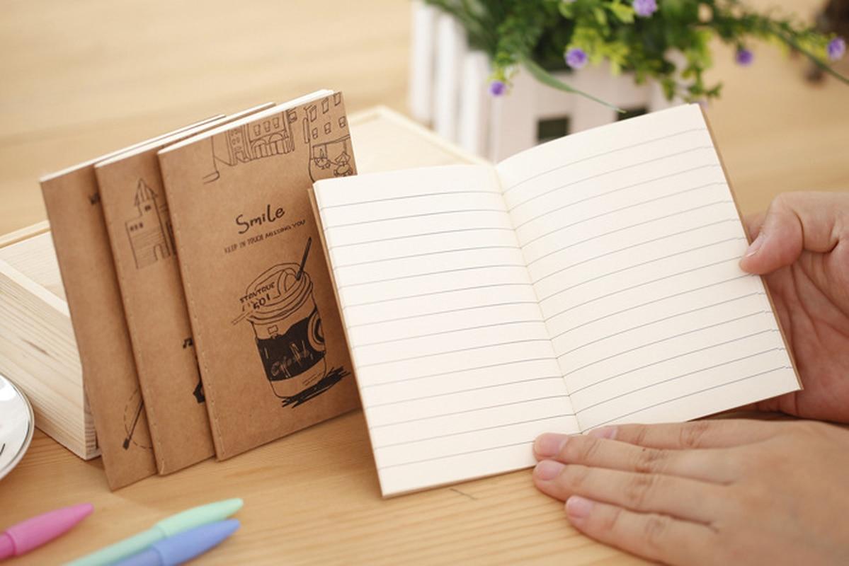 Bom tempo bloco de notas de papel kraft macio 64k caderno presentes por atacado escritório & escola suprimentos almofadas de escrita