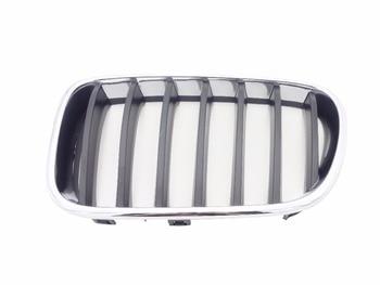 1Pcs Left Side 51117210725 Front Bumper Upper Grille Chrome Kindey Grill For BMW F25 X3 2011-2014