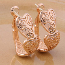 NeeFu WoFu copper heart ring Earring gold brand Earrings boucle doreil Retro Brinco Orecchino di marca Oorbellen Earrings(China)