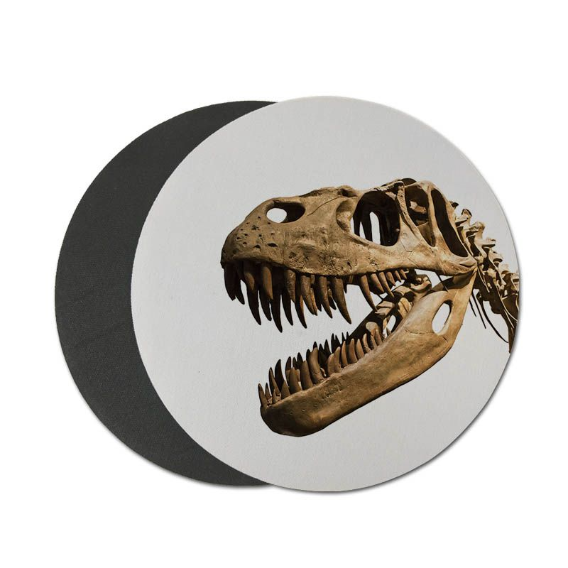MaiYaCa Нескользящие PC скелет динозавра страшно Woo яйцо динозавра резиновый коврик для Мышь игры круглый коврик для мыши 22x22 см 20x20 см
