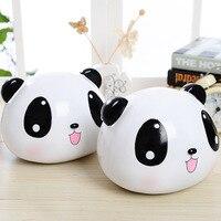 Nette Große Panda Piggy Bank für münzen Bambus Weiß Panda Geld Box Sicher Spar Box Moneybox Geschenke Für Kinder Harz Schönheit Hause Deco