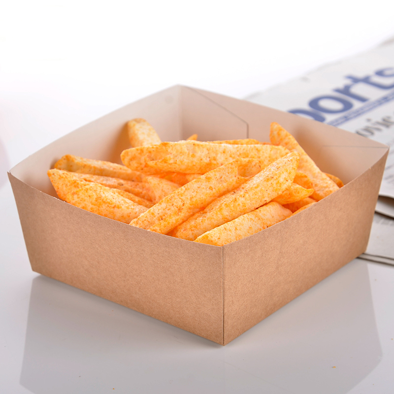 Disposable Kraft Paper French Fries Cup Eco Friendly Fried Chicken Popcorn Dessert Box Party Food Package 100pcs/lot SK728