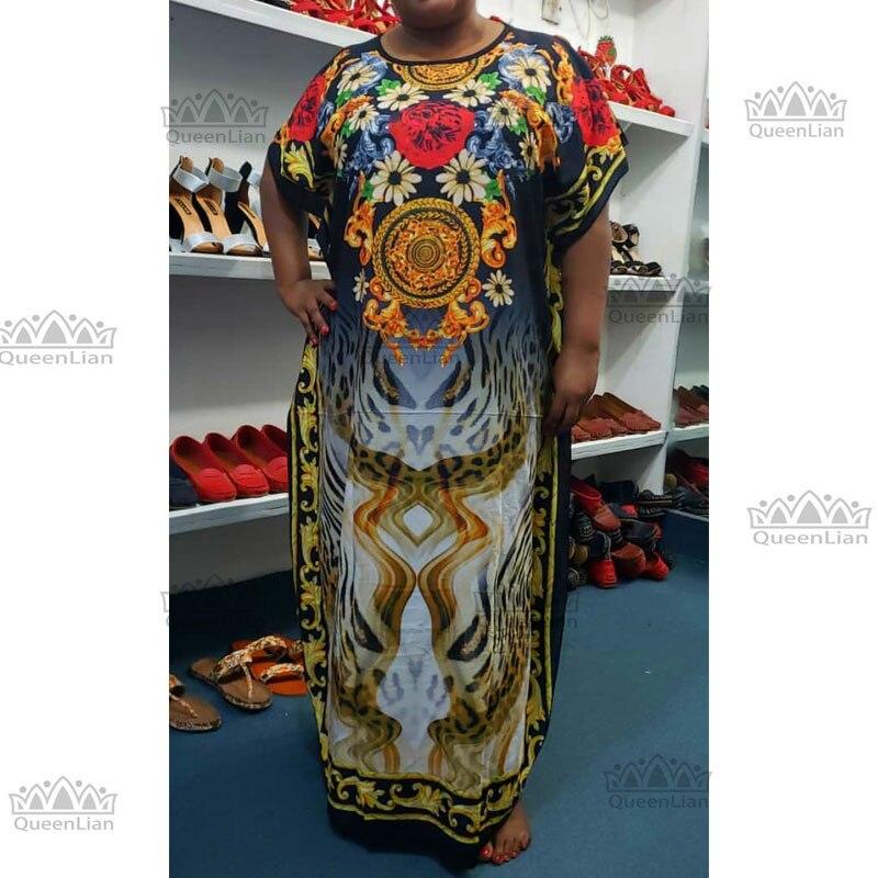 2019 New Fashion Chiffon Super Size African Loose Long Dress For Women