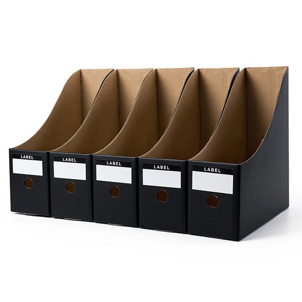 5PCS/Set  Paper Desk Organiser Office Foldable Pencil Magazine Rack Simple Paperwork Document Storage Box File Holder