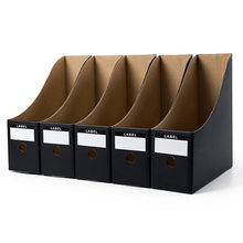 5PCS/Set Paper Desk Organiser Office Foldable Pencil Magazine Rack Simple Paperwork Document Storage Box File Holder(China)