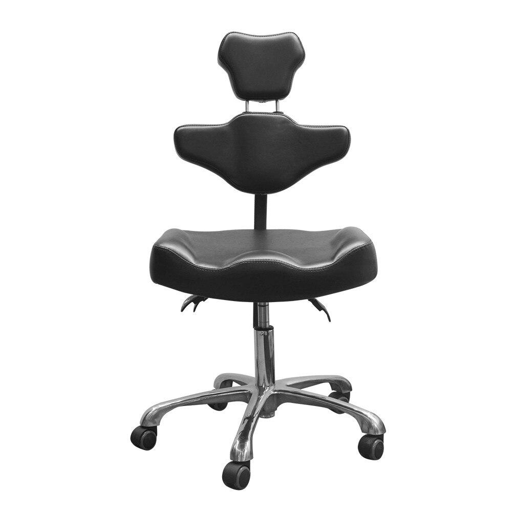 Top Salon Massage Tattoo Chair Adjustable Portable Tattoo Stool Detachable Lifting Back Leather Pad Profesional Tattooist Chair