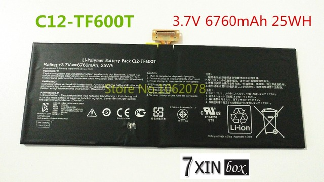 3.7 v 6760 mah 25wh bateria para asus c12-tf600t as3966t as3964t as3956t as4046t as3967 as4048 tf6psg3
