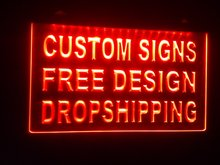 drop shipper Free shipping LED Neon Light Sign (This product doesn't provide custom design)(China)