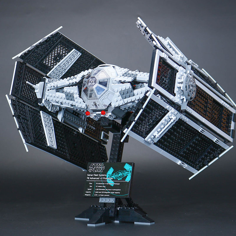 H&HXY 05055 1242PCS Star The Rogue One USC Vader TIE Advanced Fighter wars Set lepin Building Block Brick Educational Toy 10175 lepin 05055 star war series the rogue one usc vader tie advanced fighter set 10175 building blocks bricks educational toys