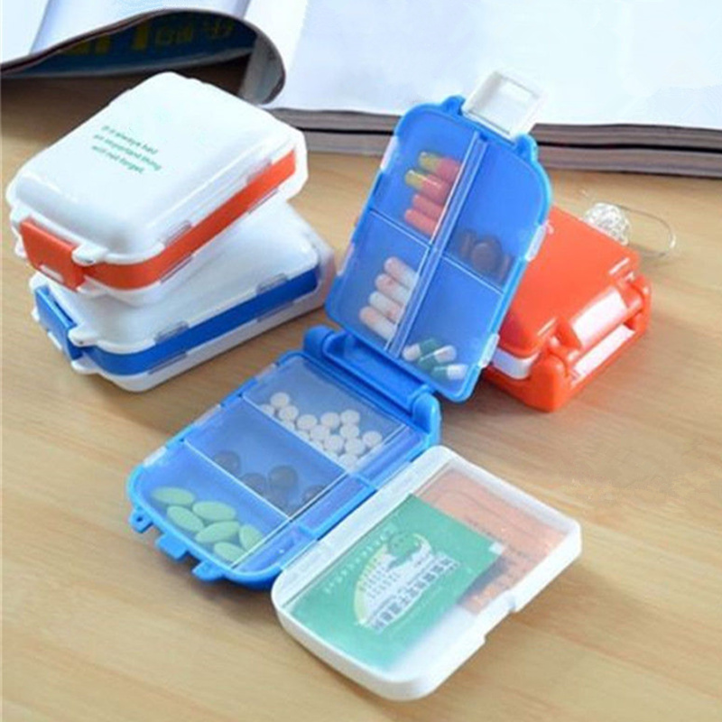 Plastic Weekly Folding Medicine Tablet Pill Box Case Portable Candy Vitamin Container Storage Organizer Travel Accessories(China)