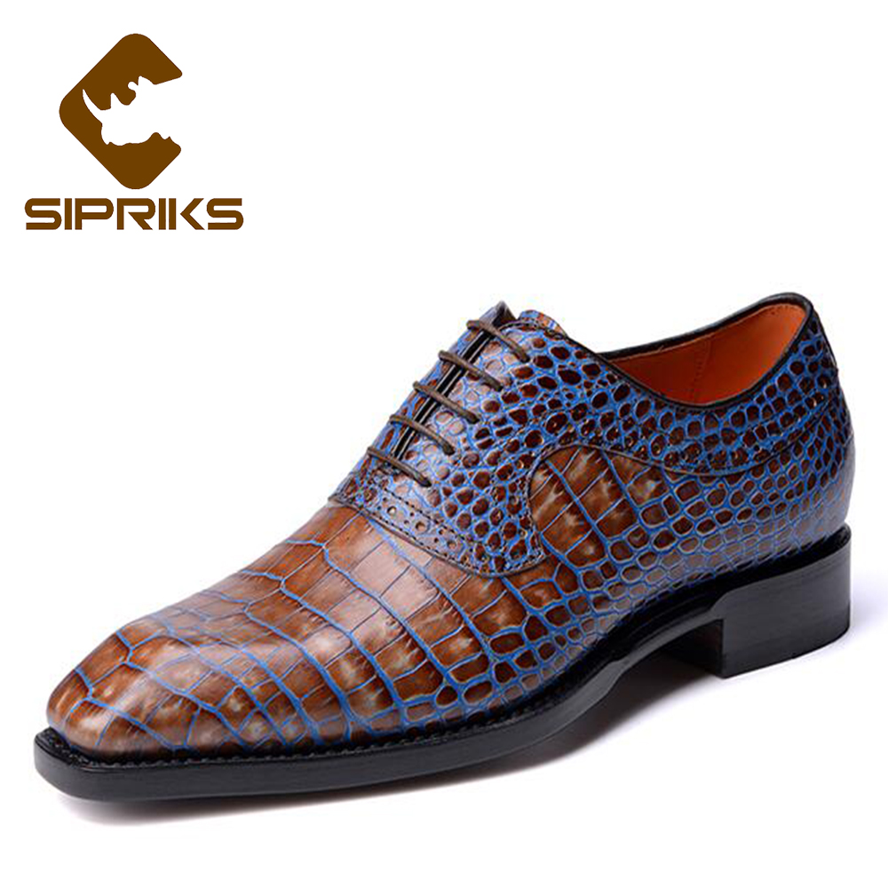 Sipriks Luxury Genuine Leather Red Oxford Shoes For Men