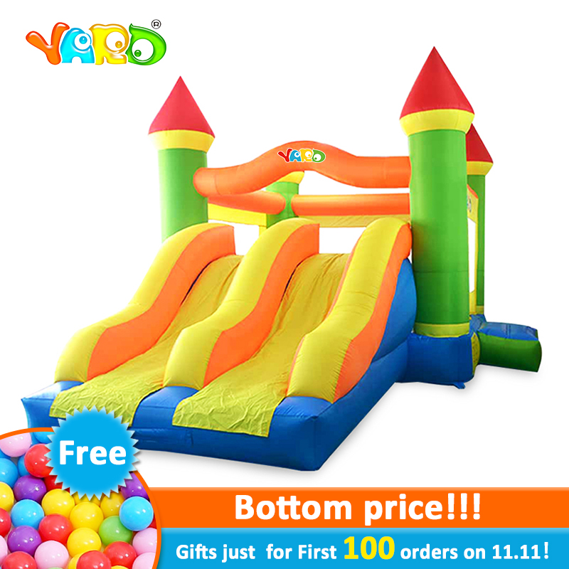 YARD Inflatable Trampoline for kids giant inflatable games Bounce House Double Slide Inflatable Bouncer Jumping Castle bounce house inflatable toy bouncer dual slide bouncy jumper giant jumping house obstacle combo trampolines