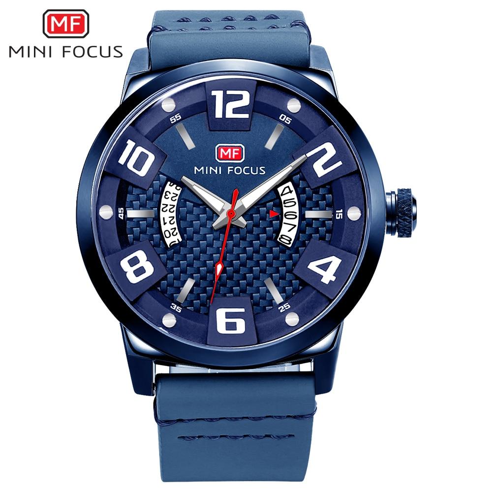 MINIFOCUS Top Brand Army Military Waterproof Watch Fashion Sport Men Wristwatch Male Genuine Leather Quartz Clock For Gentlemen italians gentlemen пиджак