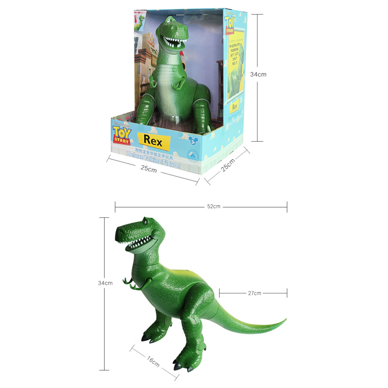 Bigger 34cm with Sound Toy Story 3 Rex the Green Dinosaur PVC Figure Toy Collectible Model