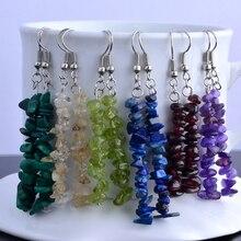 Natural stone chip earrings dangle earrings semi precious earrings women lady earrings