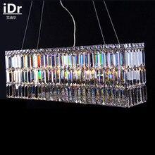 Высококачественные классические простые прямоугольная люстра светильник для ресторана и спальни лампа зал crystal Light iDr-0030