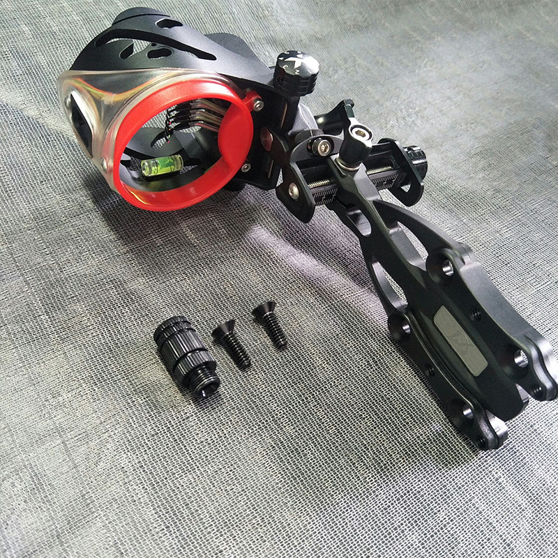 Archery Compound Bow Sight 5 Pin 0 019 Optic Fiber Micro Adjustable Right Hand And Left