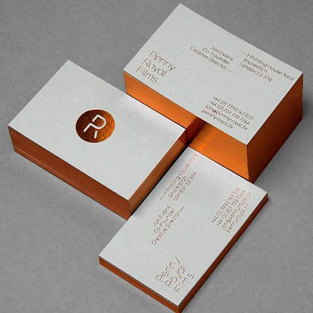 ขายส่ง 200 ชิ้น/ล็อต custom gold/เงิน/holographic edge ธุรกิจการ์ดฟอยล์ปั๊มฟรีจัดส่ง