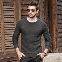 GustOmerD осень-зима свитер мужской вязаный с длинным рукавом Однотонный свитер мужской пуловер с круглым вырезом Полосатые свитера мужские s