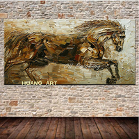 Large Modern Wall Horse Art Picture Canvas creation art living room bedroom paintings The sword of drawing horse