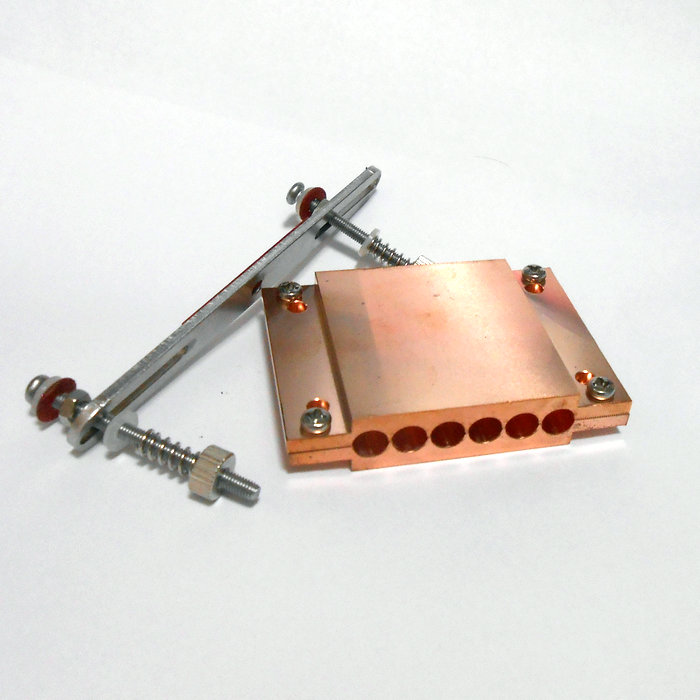 все цены на For AMD Heat pipe clamp for AM4 CPU heat conduction Heat tube press plate 6 hole Pure copper plate/4 hole Pure aluminium plate