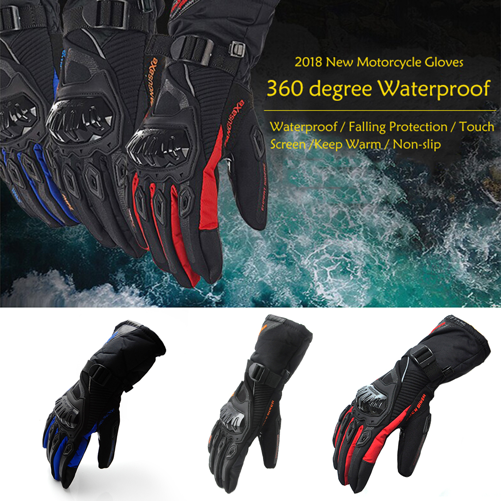 Motorcycle Gloves Winter Warm Gloves Touch Screen Waterproof Windproof Protective Gloves 100% Brand New Motorbike Gloves (1)