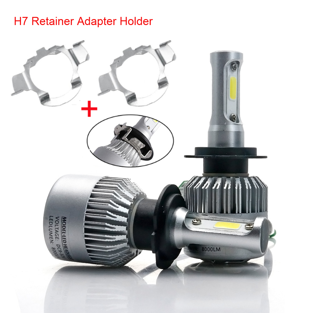 H7 LED Kit Headlights Bulb Base Holders Adapters Special H7 Headlamp Clip Retainer Sockets For BMW AUDI Mercedes-Benz VW