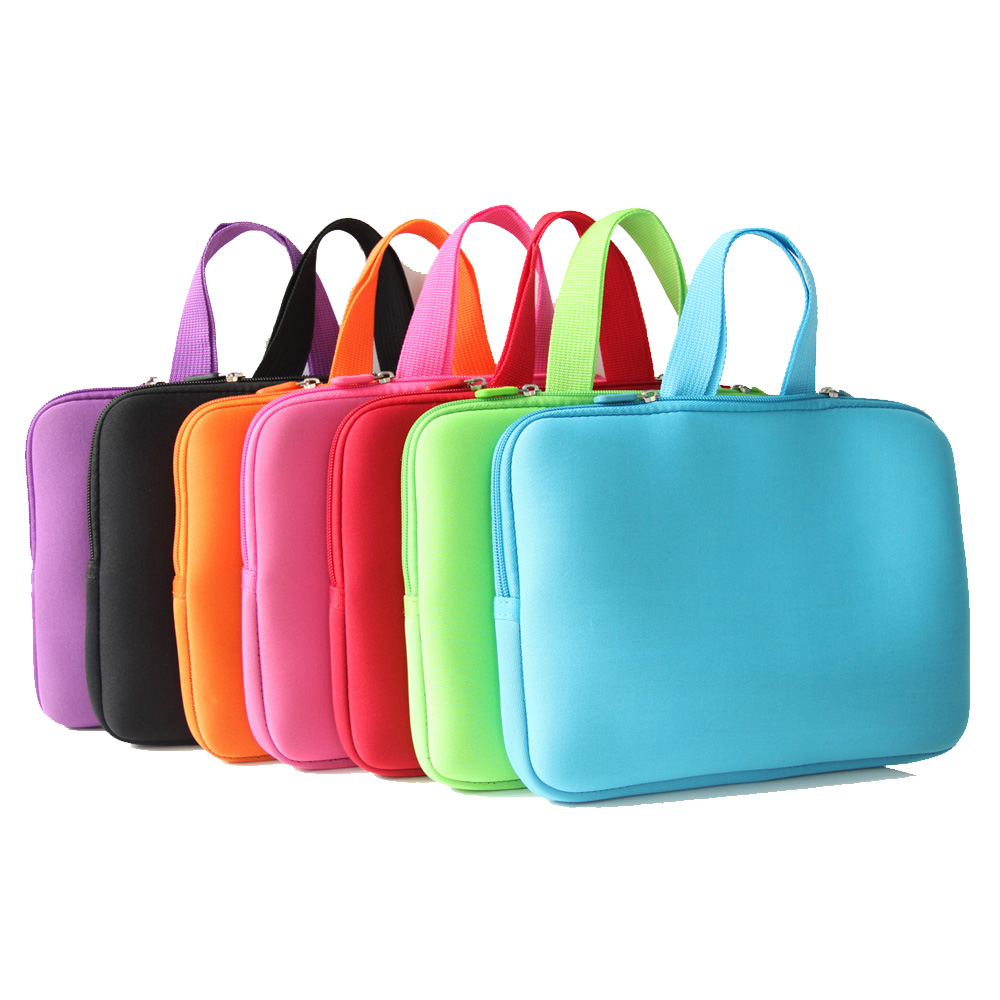 10 inch Netbook Laptop Computer Sleeve Inner Zipper Bag Cases Cover Pouch Protector Bags +Handle For HP Dell Acer Lenovo PC