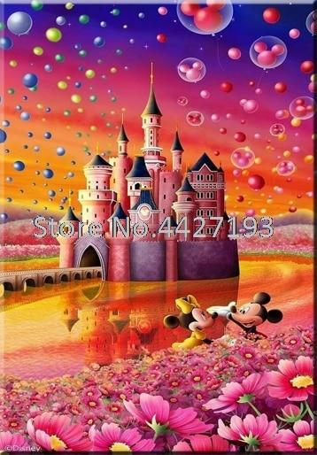 diy diamond painting christmas 5d diamant accessoires full rhinestone embroidery Mosaic Castle Mickey