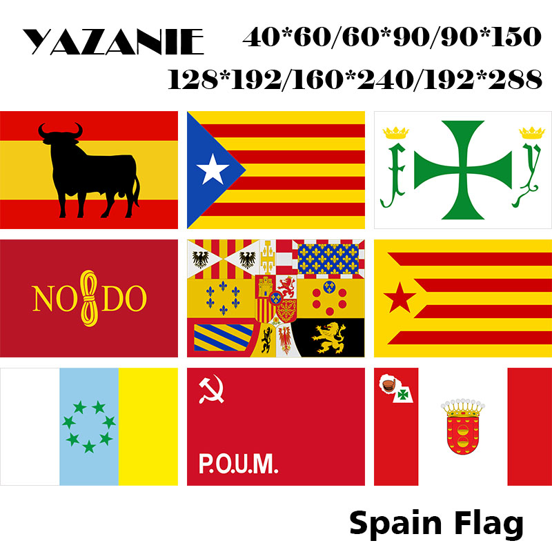 150cm x 90cm Spain Asturia Flag Banner 5ft x 3ft