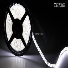 Fanlive 50 m/lote dc12v 60 5050 branco 300led waterprooof 12 volts luzes 6500k led faixa de luz rgb
