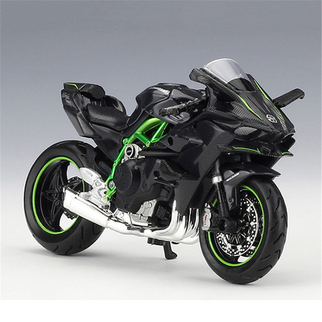 Maisto 1/18 Kawasaki Ninja H2R Motorcylce Model With Removable Base Diecast Moto Children Toy Collections Gift
