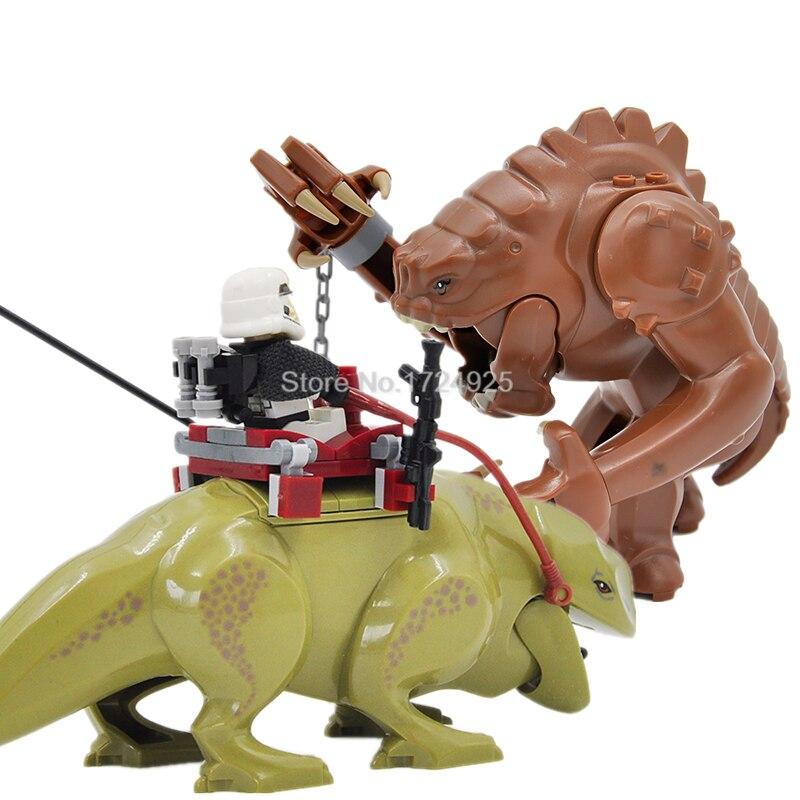 Rencor y Dewback bloque Sandtrooper venta única figura bloques de construcción modelos juguetes para niños