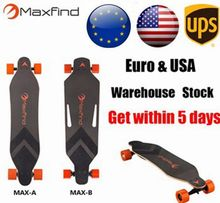 Maxfind Electric Hoverboard Skateboard Samsung Battery Long Board Maple Panel Material Four Wheels Electric Skateboard Wholesale