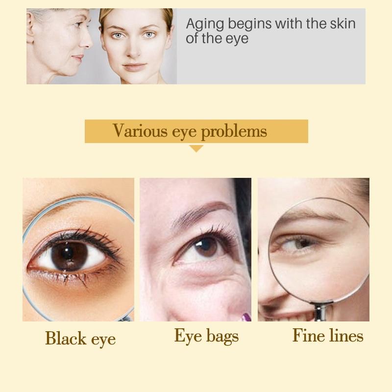 قناع العين60 قطعة أقنعة مزيل الدوائر الداكنة و التجاعيد مكافحة السن 3